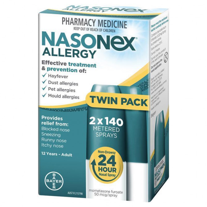 Thumbnail for Nasonex Allergy 140 Spray Twin Pack (140 X 2)