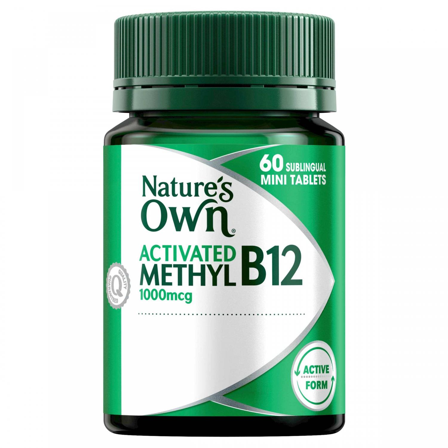 Thumbnail for Nature's Own Activated Methyl B12 1000mcg 60 tablets