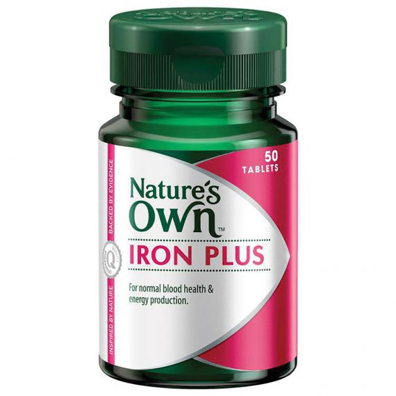 Thumbnail for Nature's Own Iron Plus 50 tablets
