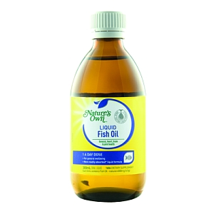 Natures own liquid fish oil 1 a day dose 300ml towers for How much fish oil a day