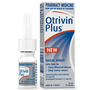 Otrivin Plus Nasal Spray 10ml Towers Pharmacy