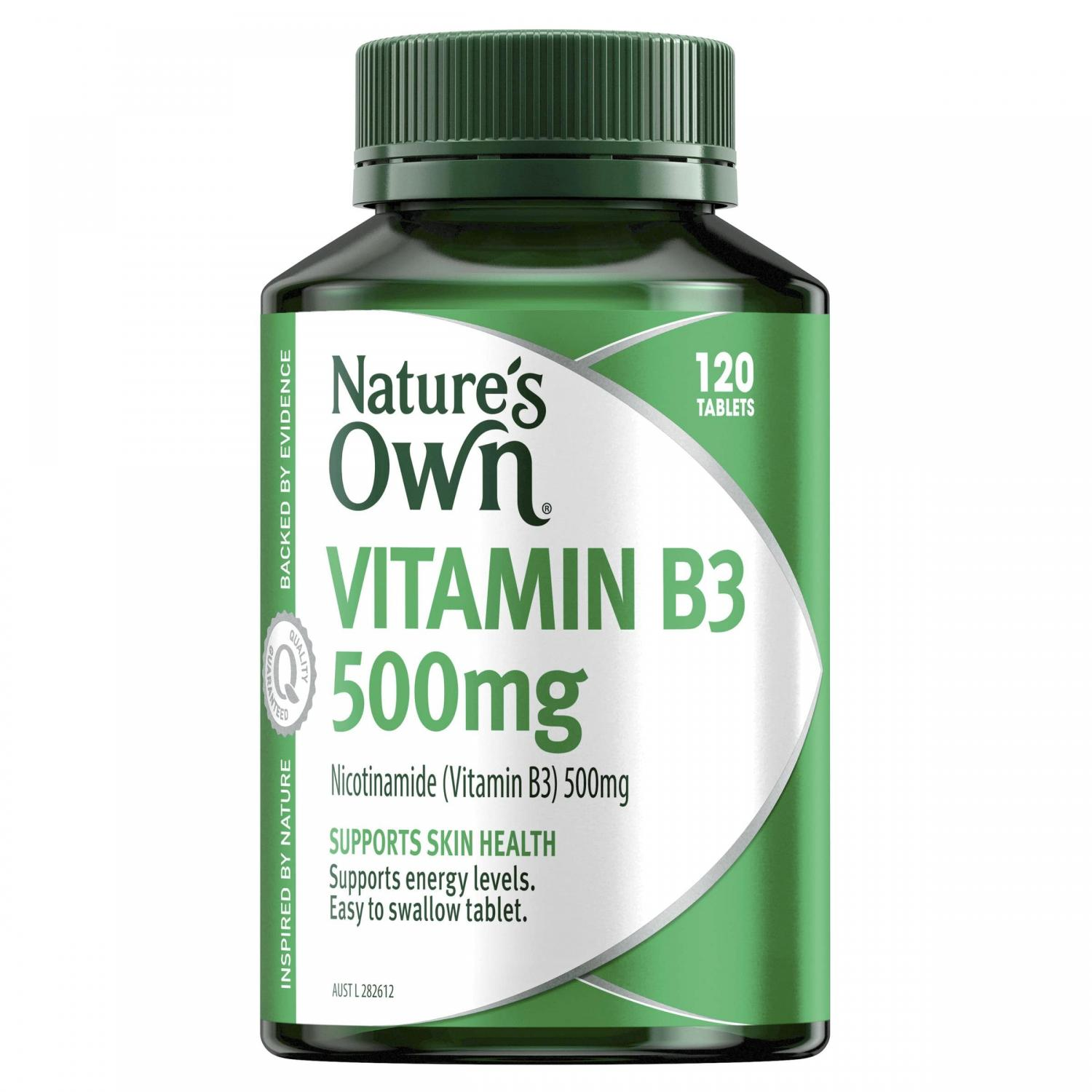 Thumbnail for Nature's Own Vitamin B3 500mg 120 tablets