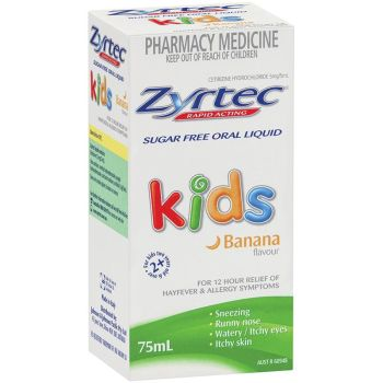 Thumbnail for Zyrtec Kids Banana Flavour 75mL