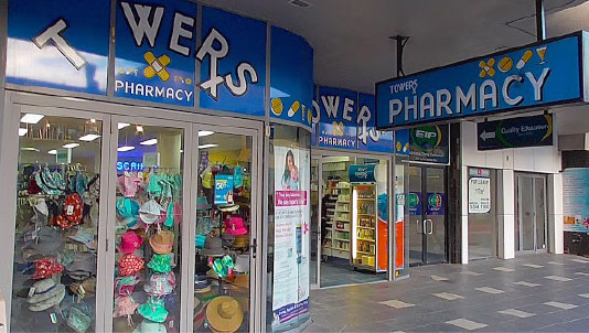Towers Pharmacy Shopfront in Surfers Paradise Queensland
